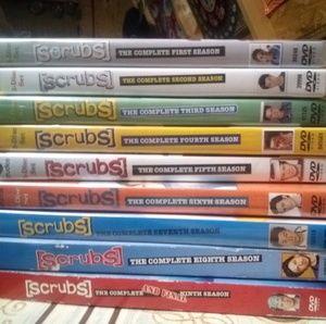 All nine seasons of scrubs!!
